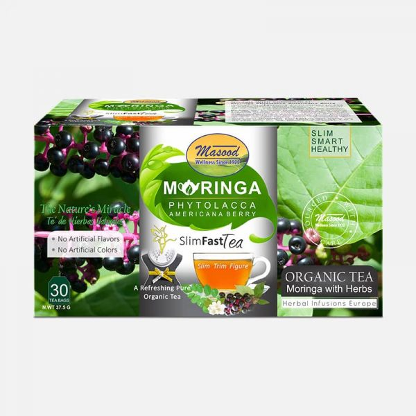 moringa tea blended with phytolacca beryy-for weight loss-obesity & fat burning